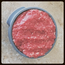 The beginning of the burger.
